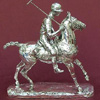 A silver polo player trophy or sculpture fully hallmarked Sheffield markings are 925 European Sterling Silver Mark Crown  for made in Sheffield Dated Letter for 2010