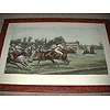 After Geoffrey  Douglas Giles  painter of Military and Equestrian subjects Born in India in 1857  Suffolk School The Polo match framed print on paper published June 11th 1904 late 20th century print