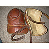 A good pair of totally leather polo knee pads each with two leather straps used. A great colour and really beautiful quality