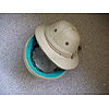 A selection of USED polo pith helmets for decorative use only