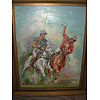 Robert Barnete (Barnette) American born 1931 died 2006 oil on canvas laid down on board Polo Game signed and framed
